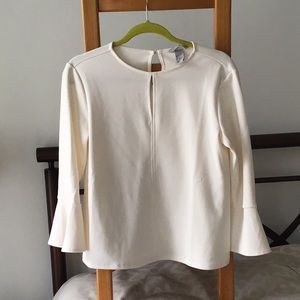 Cream bell sleeved shirt